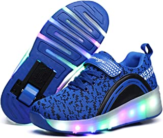 Kids Roller Skate Shoes with Single Wheel Shoes Sport Sneaker LED
