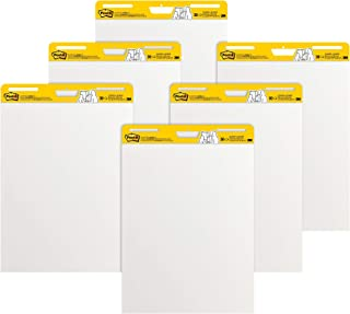 Post-it Super Sticky Easel Pad, 25 x 30 Inches, 30 Sheets/Pad, 6 Pads (559VAD6PK), Large White Premium Self Stick Flip Cha...
