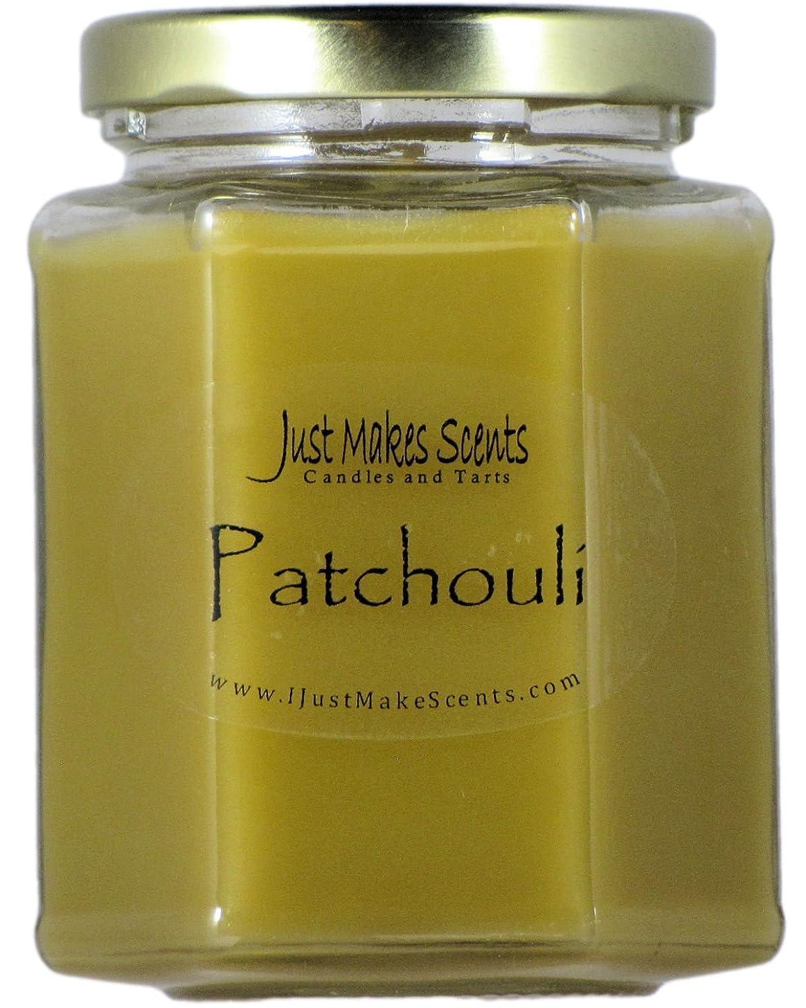 ログ減衰変更可能Patchouli Scented Blended Soy Candle by Just Makes Scents (270ml)