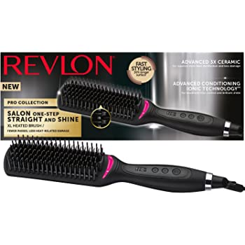 Pro Collection Salon One Step Straight and Shine di Revlon Spazzola lisciante extra large, RVST2168