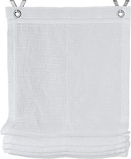 Kutti Store Bateau Orleans /á /œillets Blanc Volant Beige 120 x 140 cm L x H