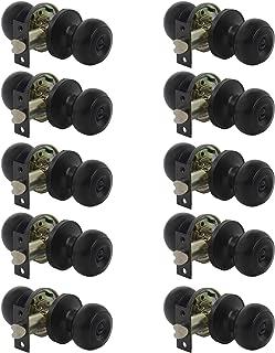 10 Pack Door Lock Round Privacy Door Knob Doorknobs Keyless Interior Door Lockset for Storage Room Bedroom Bathroom Matte Black Finish by Probrico