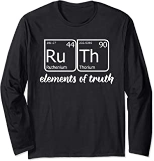 RuTh Periodic Table Elements TShirt RBG Bader Ginsburg Meme