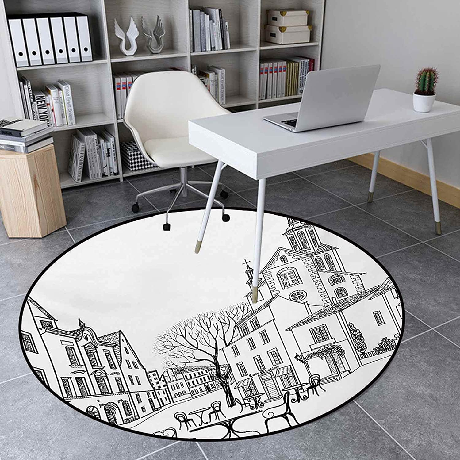 Max 77% OFF Collection Round Rug 4.6 Ft Rugs Room Living for Street in Cafe Manufacturer direct delivery