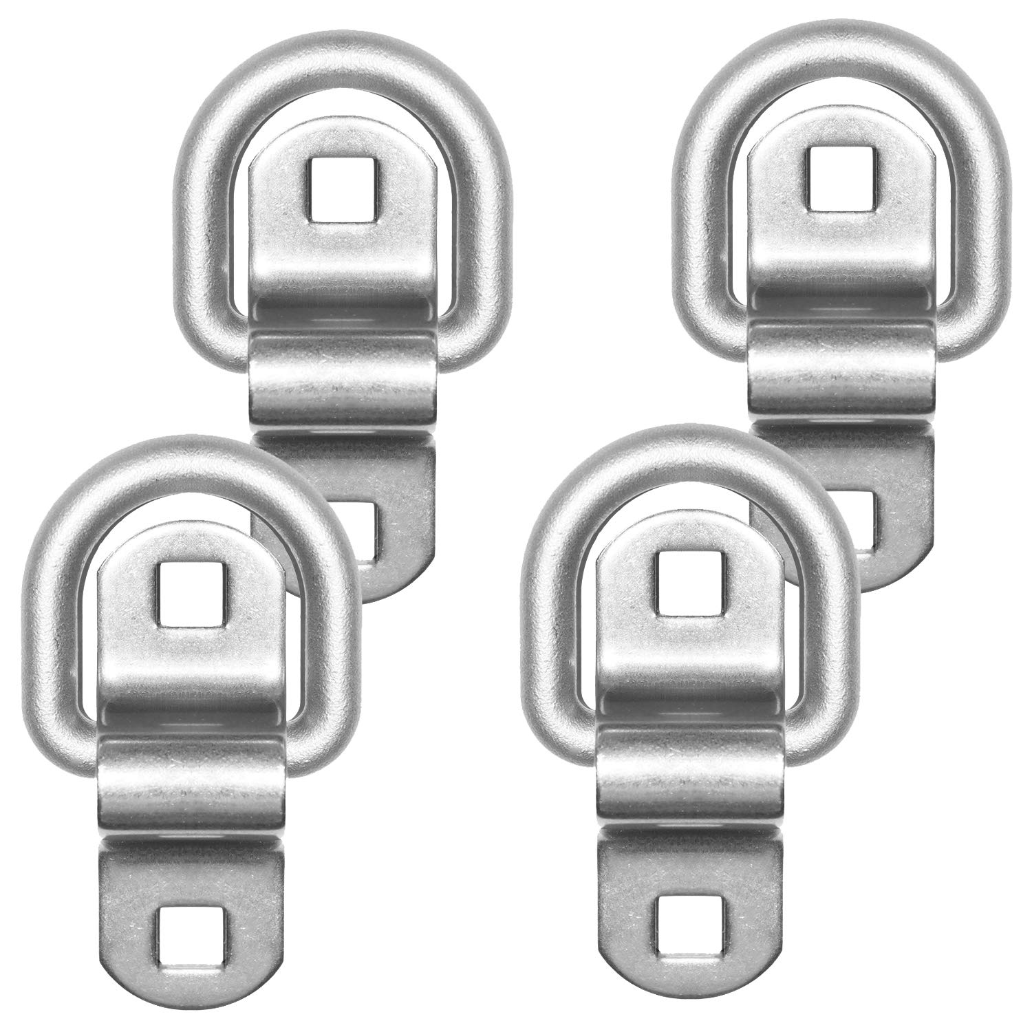Cap Surface Mount D-Ring 6,000 lb Tiedowns 4-Pack Stainless Steel Tie Down