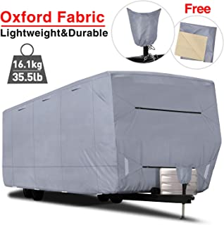 RVMasking Oxford Travel Trailer RV Cover, Fits 31'7
