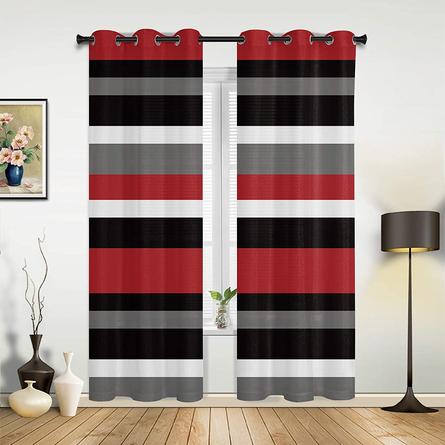 Beauty Decor Window Rare Sheer Recommendation Curtains for Red B Living Bedroom Room
