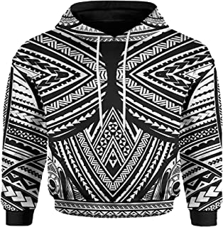 Mens Pullover Long Sleeve Thicken Warm Hooded 3D Print Pullover Hoodies Pullover