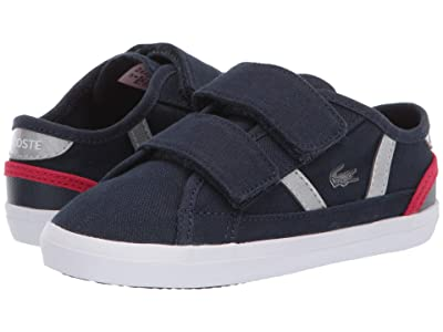 Lacoste Kids Sideline 120 1 CUI (Toddler/Little Kid) (Navy/Red) Kid