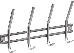 Neutrale Optik Edelstahl Ideal f/ür Flur oder Schlafzimmer // Garderobenleiste // Wand-Garderobe // Huthaken // Kleiderhaken // 262899 4 Haken Zur Wandmontage Metafranc Hakenleiste 300 mm
