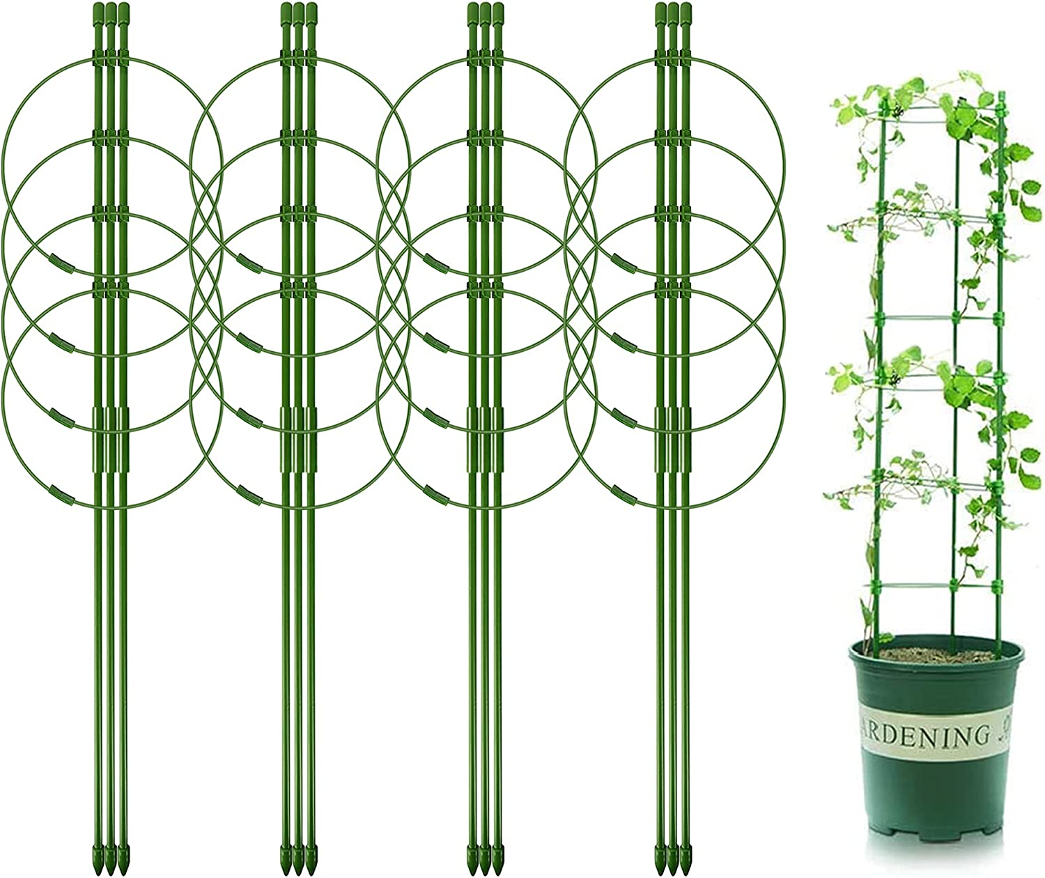 Legigo New products world's highest quality popular 4 Packs Plant Free Shipping New Support Rin Cages with Adjustable