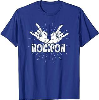 Rock On Tshirt Rock & Roll Music Shirt Rock Hand Graphic Tee