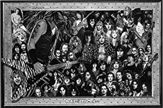 Poster Revolution Heavy Metal Bands - Collage 24x36 Poster