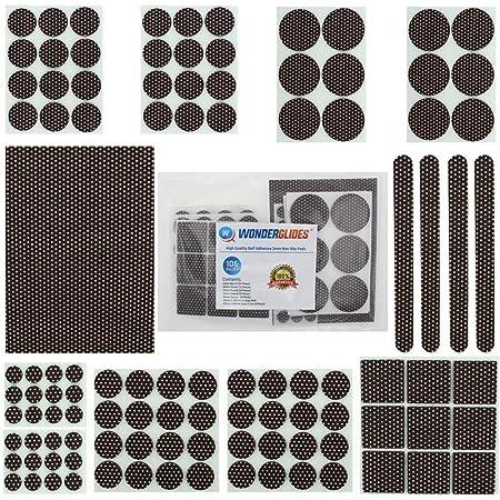 Lifeswonderful® - Juego de 106 almohadillas de fieltro autoadhesivas antideslizantes para muebles y sillas de mesa