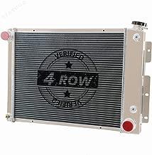 STAYCOO 62MM 4 Row Core Aluminum Radiator for 1967-1969 Chevy Camaro &Pontiac Firebird Small Block