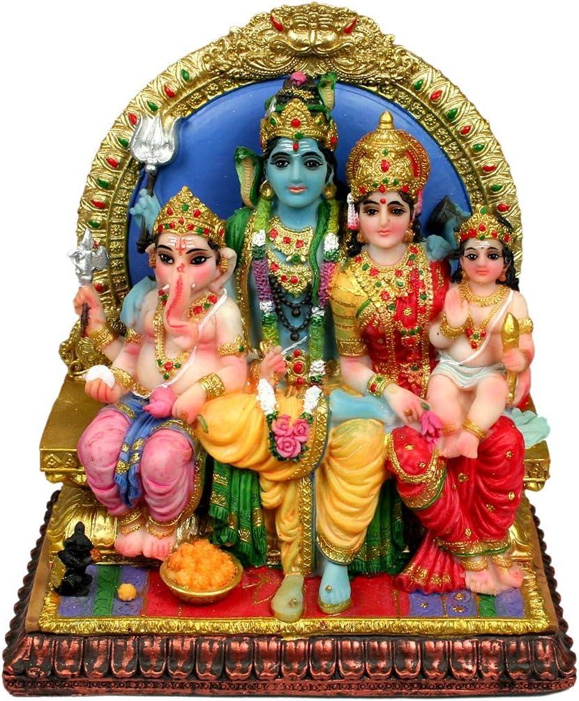 Attractive Siva Family Statue 6.5