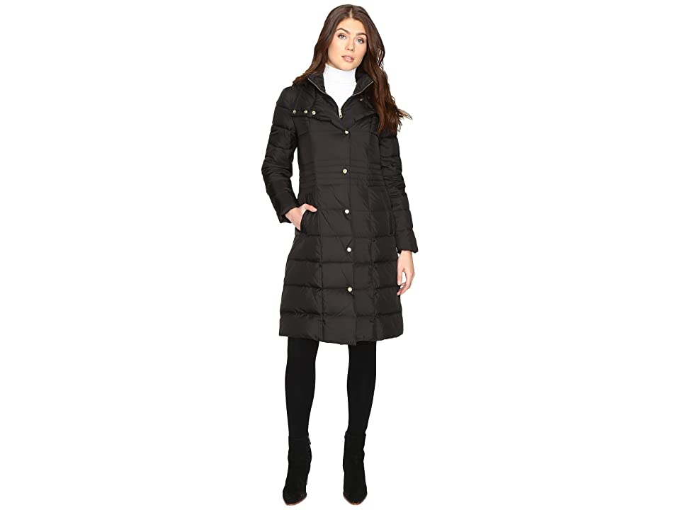 Cole Haan 40 Down Coat with Bib (Black) Women