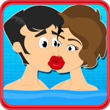 a boy kissing