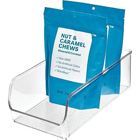iDesign 56930 Boîte de rangement pour placard, organisateur de cuisine en plastique de taille moyenne pour réfrigérateur et garde-manger, boissons et condiments, transparent
