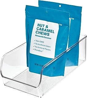 iDesign boîte de rangement, bac plastique moyen pour le placard ou le frigo, bac alimentaire pratique sans couvercle, tran...