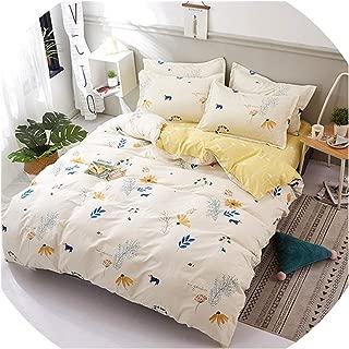 Flower Bedding Set 3/ 4pcs Flat Sheet, Pillowcase&Duvet; Cover Set AB Side Bed linens Cotton%Polyester Bedclothes Kid Bed,tianyuan,3pcs