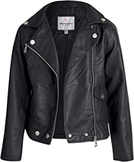 Girl's Faux Leather Motorcycle Moto Biker Jacket (Toddler/Little Girls/Big Girls)