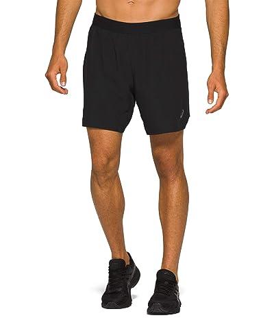 ASICS Road 2-in-1 7 Shorts (Performance Black) Men