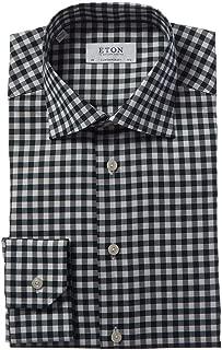 Mens Contemporary Fit Dress Shirt, 41, Green