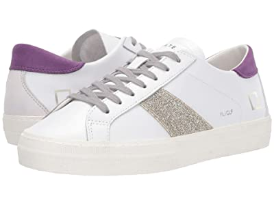 D.A.T.E. Flair (White/Purple Calf) Women