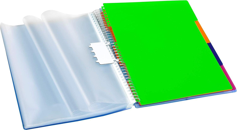 Carpeta Archivex personalizable de 30 fundas con separadores intercambiables color azul Carchivo
