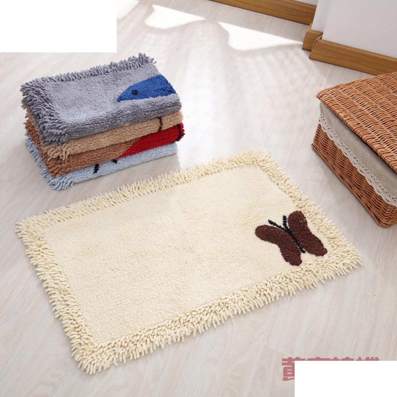 Entrance mat Doormat Kitchen,Restroom,Bathroom mat Water Absorption and Anti-skidding mat-B 45x120cm(18x47inch)