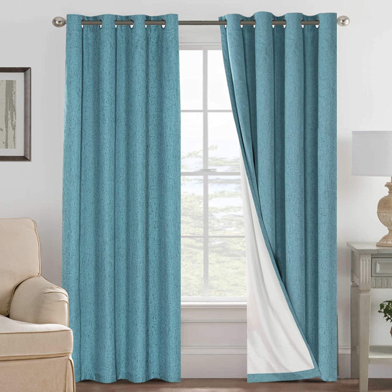 Linen Limited time sale Blackout Curtains supreme 84 Absolutely Inches 100% Long
