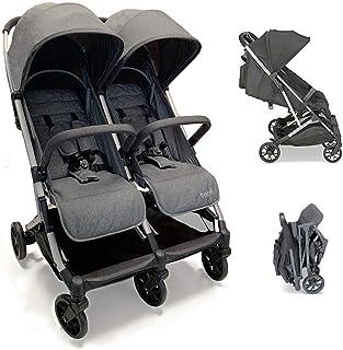 cochecito de hermano Chipolino nuevo Twin Duo Smart Cesta plegable de Birth azul azul