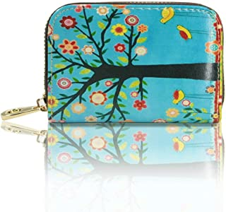 RFID printed wallet for women credit card holder wallets faux pu leather zipper wallet case