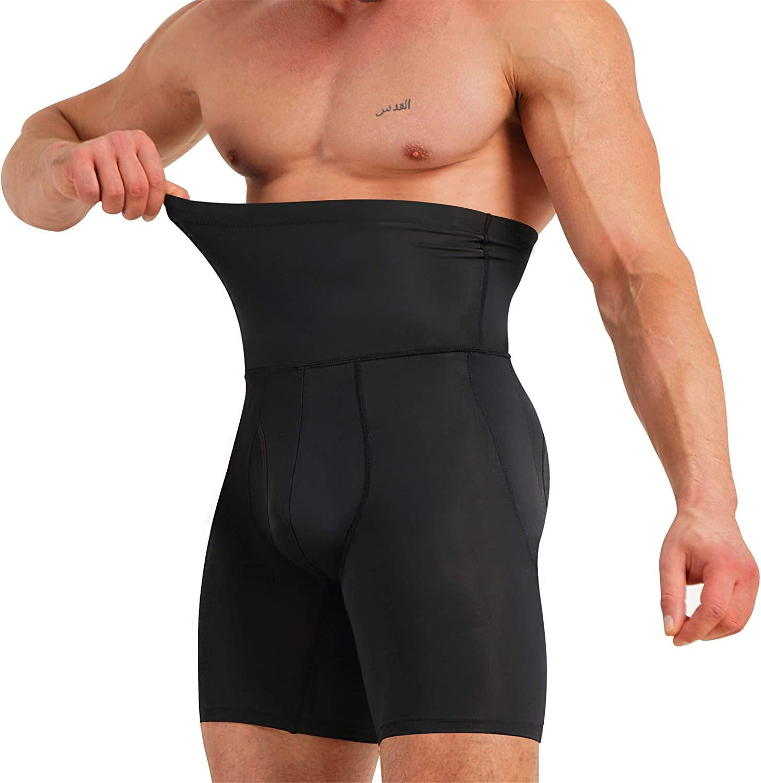 TAILONG Men's Underwear Boxer Briefs Tummy Control Shorts High Waist Slimming Body Shaper Compression Shapewear Belly Girdle