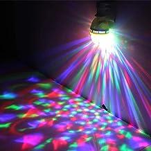 E27 LED roterende bal, LED nachtlampje, 3x1W RGB LED slaapkamerlicht, automatische rotatie en voice-geactiveerde strobe
