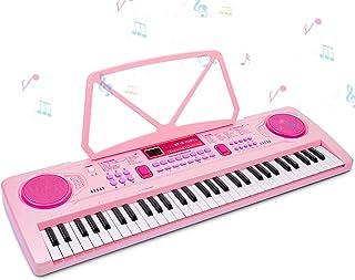 RenFox Tastiera Elettronica Pianoforte a 61 Tasti, Tastiera per Pianoforte con Supporto per Musica, Microfono, Alimentator...