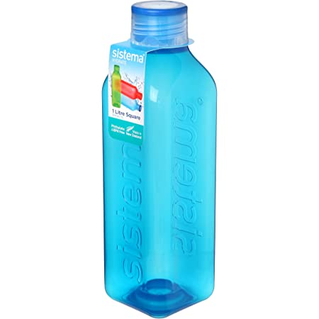 Sistema Square Water Bottle, 1 L - Assorted Colours
