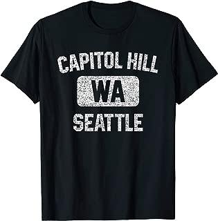 Capitol Hill Seattle WA T Shirt - Gym Style Distressed Print