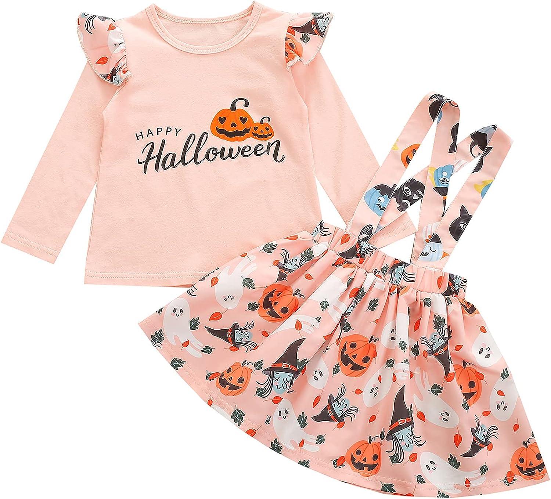 Toddler Baby Girl Halloween Christmas Outfit Elk Tree Pumpkin Ru