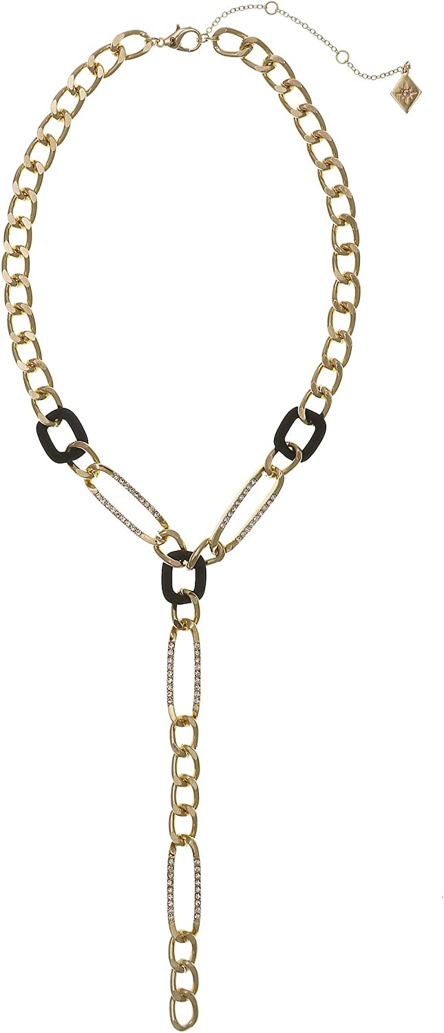 Christian Siriano New York Metal Link Y Necklace