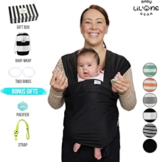 Baby wrap Carrier, Baby Sling, Baby wrap, Baby Carrier wrap, Ring Sling, Baby Carrier, Nursing Cover, Baby Shower Gift, Newborn > Infant, Black, Adjustable, Soft Stretchy Lightweight Organic Cotton.