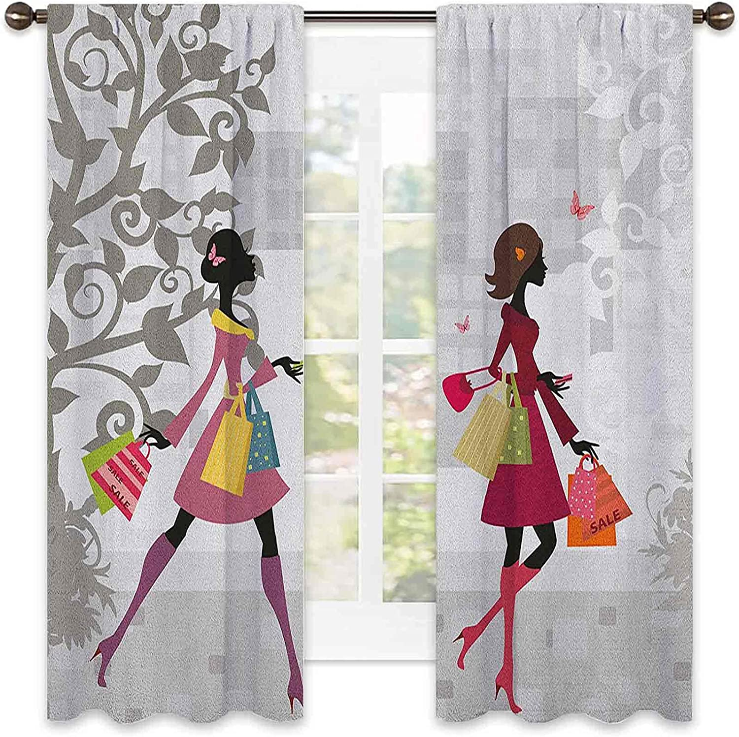 Teen Room Max 61% OFF Blackout Curtain Baltimore Mall Retro City in Fashion Shopping Women