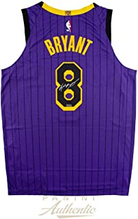 KOBE BRYANT Autographed Lakers Authentic 2019 City Edition #8 Jersey PANINI