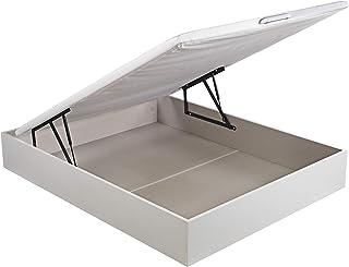 comprar comparacion ROYAL SLEEP Canapé Abatible (135x190) de Gran Capacidad, Tapa 3D Transpirable, Color Blanco