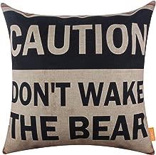 LINKWELL 18x18 inches Retro Cabin Decor Words Throw Cushion Cover Pillowcase (CC1267)