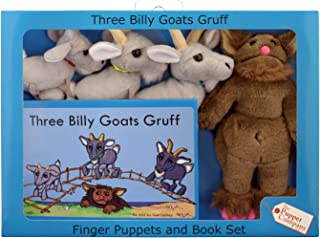 The Puppet PUC007908 Company The Three Billy Goats Gruff Finger Puppets and Book Set (Pack of 5)