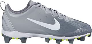 Nike Women's Hyperdiamond 2 Keystone Softball Cleats(Grey/White, 9 B(M) US)