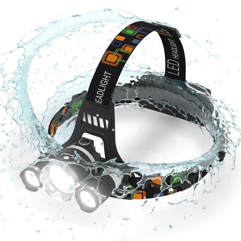 MsForce Rechargeable Waterproof LED Headlamp - Lumen flashlight