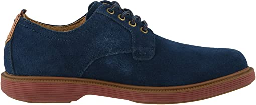 Navy Suede/Brick Sole